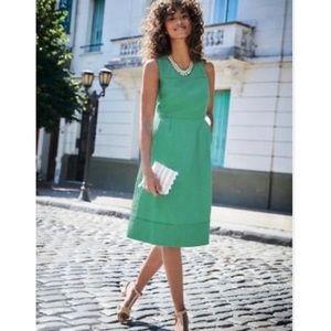 Boden Linen Knee Length Zoe Dress Size 4L